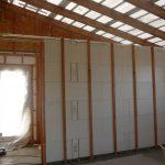 Laťování modulů vnitřních příček - ztužení konstrukce