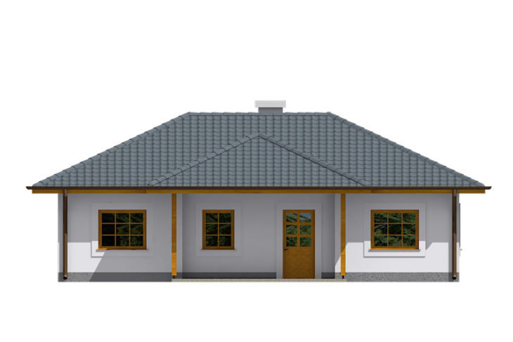 Projekt domu - Bungalov 076