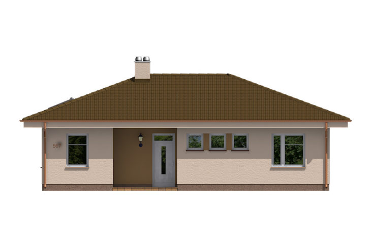 Projekt domu - Bungalov 567