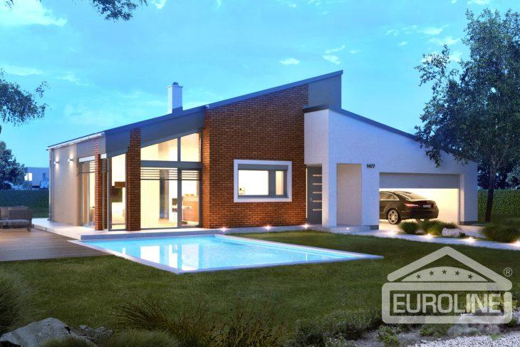 Projekt domu - Bungalov 1477