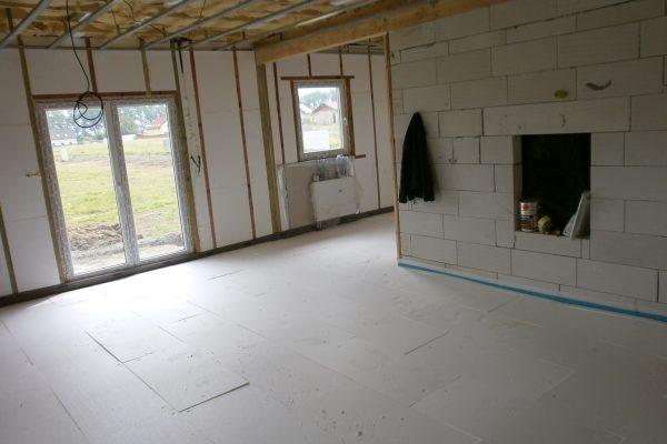 Výstavba RD Chomutov-výstavba domu na klíč -ÚED-Úsporně energetický dům-výplň modulů vatou | Betonové podlahy - Betonové podlahy