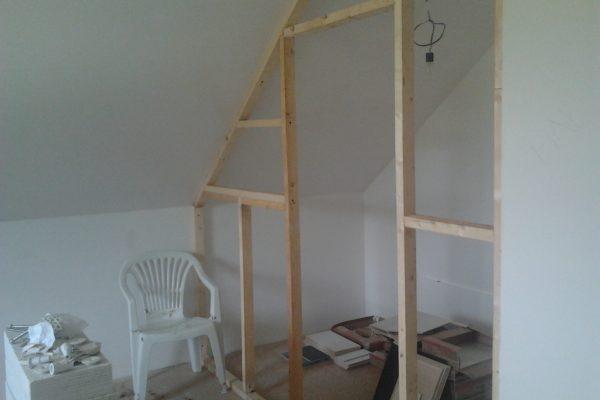 Výstavba RD Chomutov-výstavba domu na klíč -ÚED-Úsporně energetický dům-výplň modulů vatou | dokončovací práce šatní skříň-jednoduché a levné řešení - dokončovací práce šatní skříň-jednoduché a levné řešení