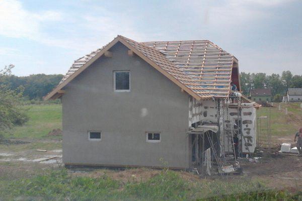 Výstavba RD Chomutov-výstavba domu na klíč -ÚED-Úsporně energetický dům-výplň modulů vatou | Připraveno na aplikaci omítkoviny - Připraveno na aplikaci omítkoviny