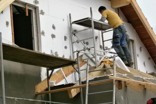 Výstavba RD Chomutov-výstavba domu na klíč -ÚED-Úsporně energetický dům-výplň modulů vatou | Zateplování příprava pro tmelení - Zateplování příprava pro tmelení