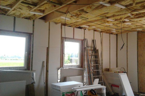 Výstavba RD Chomutov-výstavba domu na klíč -ÚED-Úsporně energetický dům-výplň modulů vatou | Zateplování stropů přízemí - Zateplování stropů přízemí