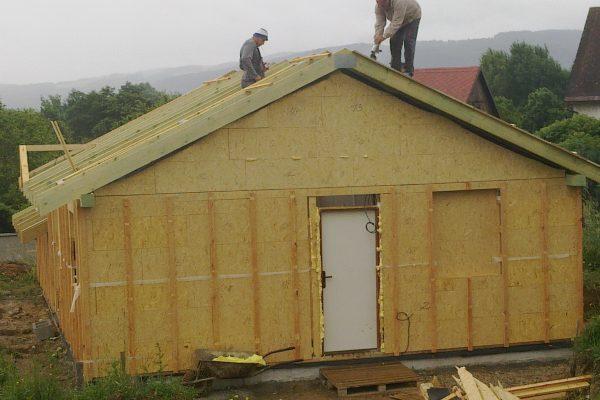Výstavba RD Citice-výstavba domu na klíč !! Detailní fotogalerie stavby  !! | Montáž krovu - Montáž krovu