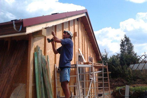 Výstavba RD Citice-výstavba domu na klíč !! Detailní fotogalerie stavby  !! | Venkovní podbití dle odstínu barevnosti na přání investora+Laťování domu zvenku - Venkovní podbití dle odstínu barevnosti na přání investora+Laťování domu zvenku