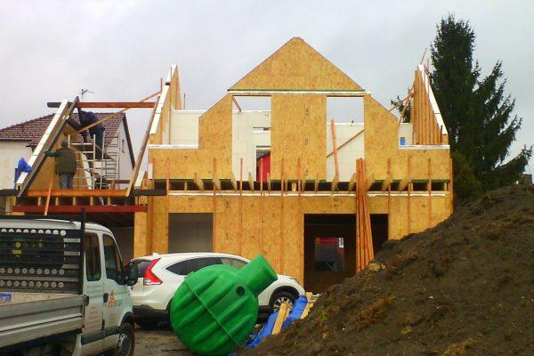Výstavba RD Karlovy Vary II-dřevostavba domu svépomocí | 50 - 50