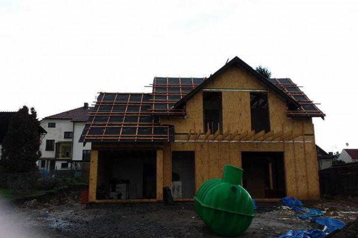 Postavený dům - Výstavba RD Karlovy Vary II-dřevostavba domu svépomocí