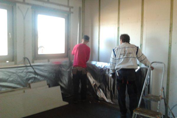 Výstavba RD Karlovy Vary-výstavba domu na klíč-moduly 30 cm  !! Detailní fotogalerie stavby  !! | aplikace reflexní ALU odrazivé folie - aplikace reflexní ALU odrazivé folie