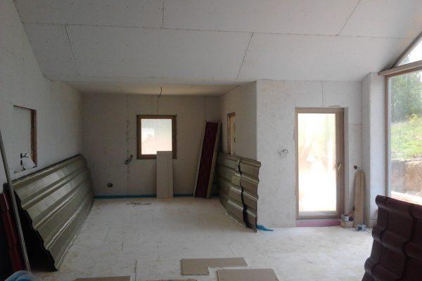 Výstavba RD Karlovy Vary-výstavba domu na klíč-moduly 30 cm  !! Detailní fotogalerie stavby  !! | montáž sádrokartonových konstrukcí - montáž sádrokartonových konstrukcí