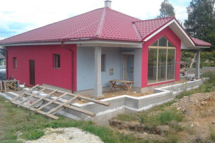 Postavený dům - Výstavba RD Karlovy Vary-výstavba domu na klíč-moduly 30 cm  !! Detailní fotogalerie stavby  !!