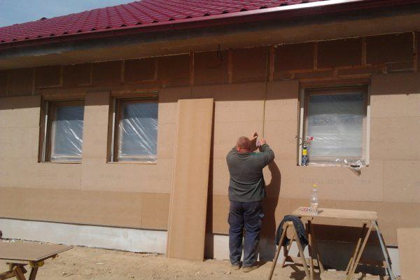 Výstavba RD Karlovy Vary-výstavba domu na klíč-moduly 30 cm  !! Detailní fotogalerie stavby  !! | Zateplení domu bylo provedeno deskami Hofatex - Zateplení domu bylo provedeno deskami Hofatex