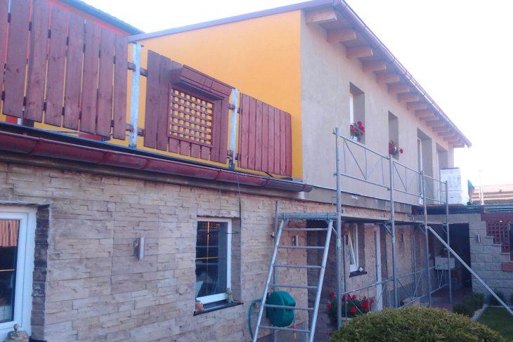 Postavený dům - Výstavba RD Kfely-dřevostavba domu svépomocí
