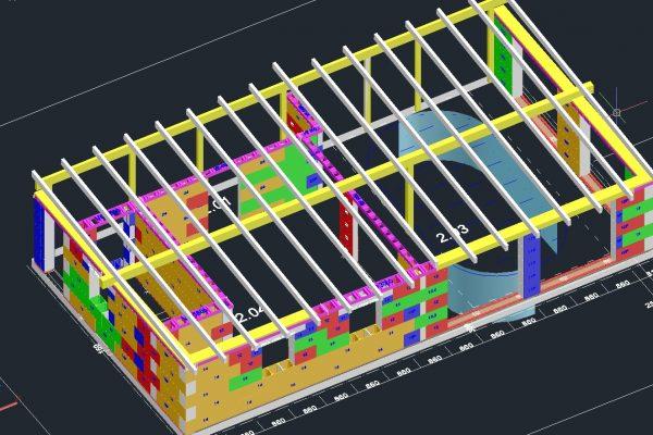 Výstavba RD Kfely-dřevostavba domu svépomocí | Výrobní dokumentace systému - kladečský plán. - Výrobní dokumentace systému – kladečský plán.