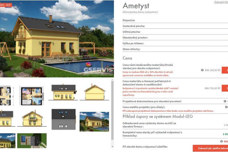 Postavený dům - Výstavba RD Kly-výstavba domu na klíč