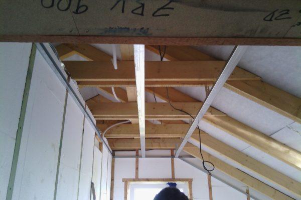 Výstavba RD Kly-výstavba domu na klíč | Montáž profilů pro sdk strop - Montáž profilů pro sdk strop