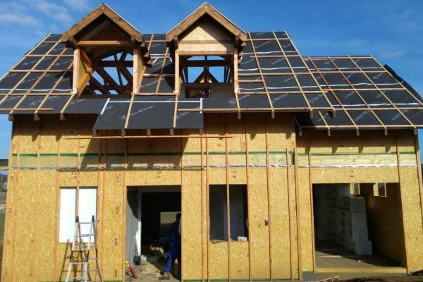 Výstavba RD Trubín-dřevostavba domu svépomocí- Čistá stavba – !! Stavba patra bez Koordinátora !! | Již zakrytí dům před nepřízní počasí. - Již zakrytí dům před nepřízní počasí.