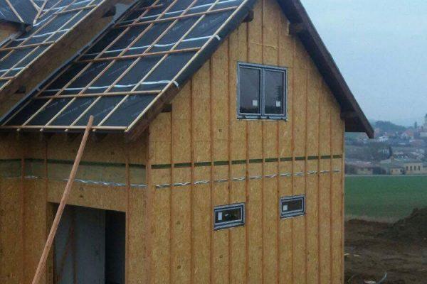 Výstavba RD Trubín-dřevostavba domu svépomocí- Čistá stavba – !! Stavba patra bez Koordinátora !! | Montáž oken a dveří - Montáž oken a dveří