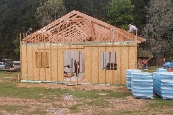 Postavený dům - Výstavba RD Trutnov-dřevostavba domu svépomocí