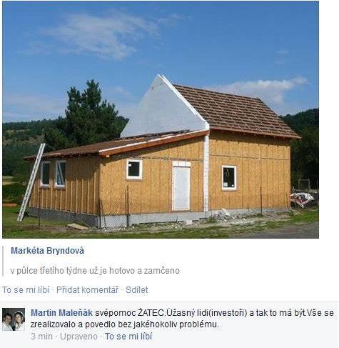 Postavený dům - Výstavba RD Žatec-dřevostavba domu svépomocí