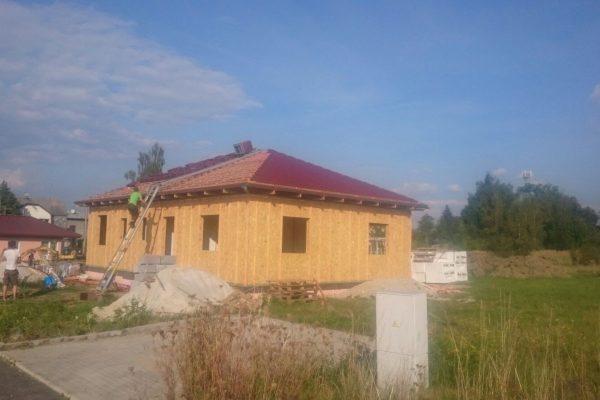 Postavený dům - RD Karlovy Vary III-dřevostavba domu svépomocí