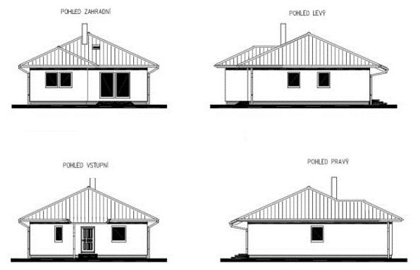 Postavený dům - RD Pém Přízemní