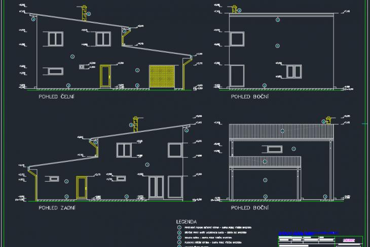 Postavený dům - RD Kotkolík Atyp