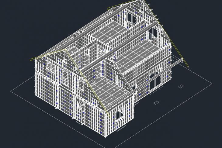 Postavený dům - RD Machek