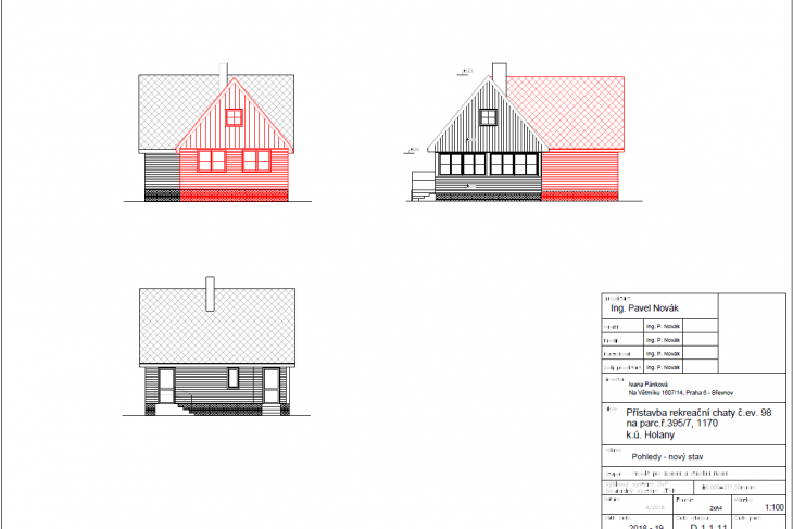 Postavený dům - Přístavba Chaty